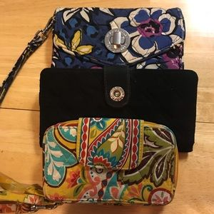 Vera Bradley bundle of three wristlets/wallet